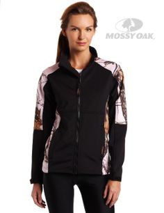 Mossy Oak Pink Break-Up Windproof Fleece Jacket from Yukon Gear