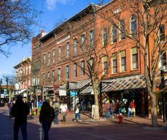 AMERICA'S FAVORITE TOWNS 2013 <> Burlington, Vermont <> A strong local foodie culture earned this college town votes in a variety of dining categories, including cafés (2), ice cream (4), burgers (5), and coffee (9). Sandwiched between the Green Mountains and glittering Lake Champlain, Burlington is a four-season center for boating, biking, hiking, and skiing. Refuel with a maple creemee (Vermontese for soft-serve ice cream) at lakeside cafés or spuds at Al's French Frys, a 1940s…