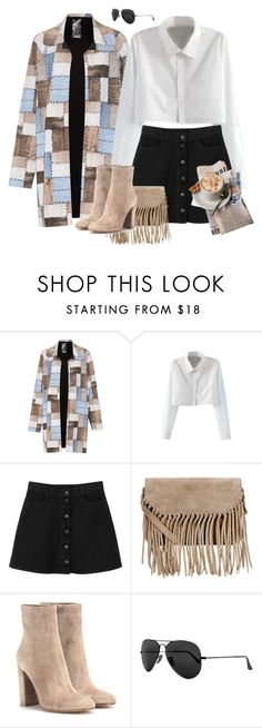 """""""Morning, No Glory"""" by hilagalam ❤ liked on Polyvore featuring Norma Kamali, WithChic, Monki, Accessorize, Gianvito Rossi and Ray-Ban"""