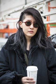 """The freelancer writer and photographer went for the side-shaved look after she got """"tired of normal, long hair."""" - ELLE.com"""