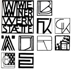 Wiener Werkstätte Identity & logos - Vienna Secession Design - designers Josef Hoffmann, Koloman Moser, & Dagobert Peche, 1903–1932