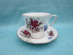 Vintage Queen Anne porcelain tea cup & saucer / by LesCurieux