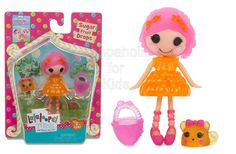 Code: 01807. Lalaloopsy Sugary Sweet Mini Doll - Sugar Fruit Drops. Mini Lalaloopsy Sugar Fruit Drops was made from a gumdrop. She's a real sweetie who sugarcoats everything she says. She loves juicy tidbits, pink grapefruit, and anything bite-sized!! - To order: http://www.shopaholic.com.ph/#!/Lalaloopsy-Sugary-Sweet-Mini-Doll-Sugar-Fruit-Drops/p/51625067/category=6708179