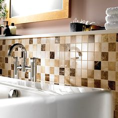 Image result for mosaic bathroom splashback
