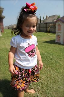 Acorn applique shirt and matching twirl skirt w/ bow $35.00
