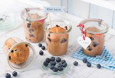 Einfach Lecker » Kuchen im Glas / Blaubeermuffins im Glas » Finden Sie leckere Rezeptideen für jeden Tag, die Ihnen das tägliche Kochen leichter machen. » Einfach Lecker
