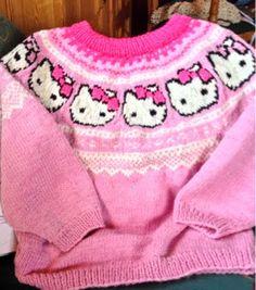 hello kitty strikkegenser | Elisabeth.H hobbyside: Ny Marius/kitty genser på pinnene