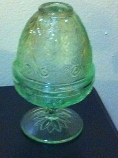 Beautiful Vintage Tiara Sandwich Chantilly 2 Piece Fairy Lamp