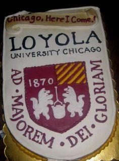 Loyola University Chicago Cake..YES! Go Ramblers!! <3