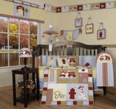 Firefighter Fire Truck And Fireman Nursery Theme Decorating