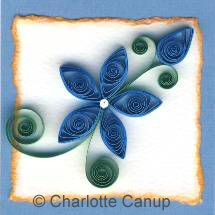 Free quilling project for beginners.  Ooh.  I like the bud