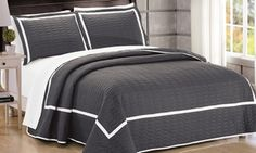 Groupon - Ellery Hotel Collection Embroidered Quilt Set (7-Piece). Groupon deal price: $69.99