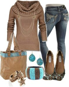 tan sweater outfit