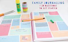 Family Journalling + 20 Questions Printable | Moomookachoo