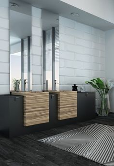 Modern Small Bathroom Design The Basic Components of Modern Bathroom Designs Modern Small Bathroom Design. Incorporating a modern bathroom design will give you a more … Modern Contemporary Bathrooms, Modern Bathroom Design, Bathroom Interior Design, Modern House Design, Contemporary Interior, Washroom Design, Contemporary Stairs, Minimal Bathroom, Contemporary Building