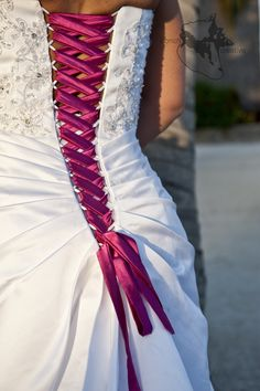 Belize Wedding Photography - Pink ties ~I wanted to do this with my dress only blue to match but I doubt itd be very easy~ -- YES, YES! But in blue/teal
