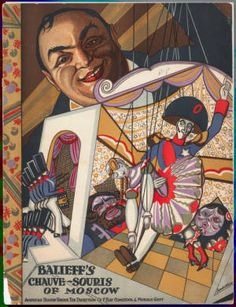 Cabaret program cover for Balieff's Chauve-Souris of Moscow, :: Library Exhibits Collection Usc Library, University Of Southern California, Cinema Posters, Illuminated Manuscript, Digital Image, Theatre, How To Memorize Things, Sketches, Antiques