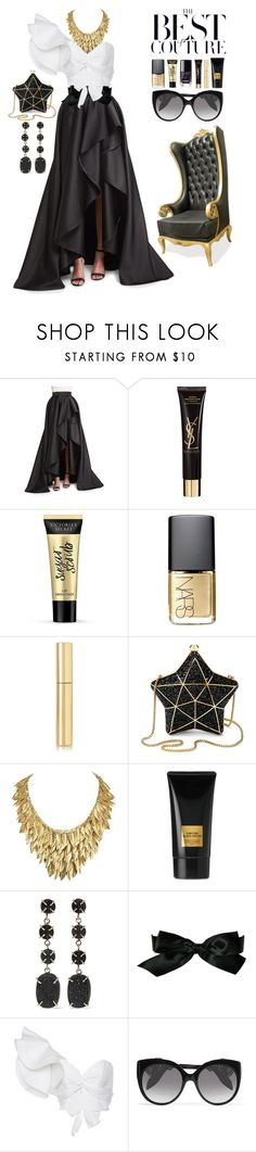 """""""Couture"""" by liligwada ❤ liked on Polyvore featuring Monique Lhuillier, Yves Saint Laurent, Victoria's Secret, NARS Cosmetics, AERIN, Aspinal of London, Tom Ford, Melissa Joy Manning, Chanel and Johanna Ortiz"""