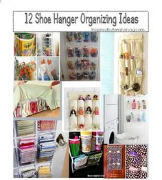 Home organizing. Love Shoe Organizers!  12 Shoe Hanger Organizing Ideas