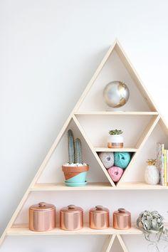 » I SPY DIY STUDIO | Triangle Shelves                                                                                                                                                                                 More