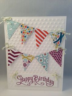 High quality Birthday card made with all Stampin' Up products.