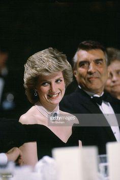Princess Diana At A Banquet In Vienna, Austria