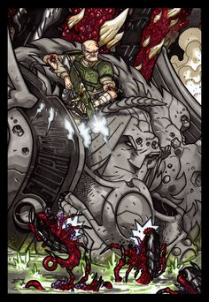 This is an illustration i did for an Announcement over at the wargaming forum WarSeer. I was publishing there a series of comics based upon the Warhammer 40,000 universe, with much success; but, un...