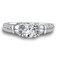 - Diamond Engagement Ring Mounting in White Gold with Platinum Head ct. Classic Engagement Rings, Engagement Ring Styles, Diamond Engagement Rings, Engagement Ring Jewelers, Fashion Rings, Halo, White Gold, Jewelry, Jewlery