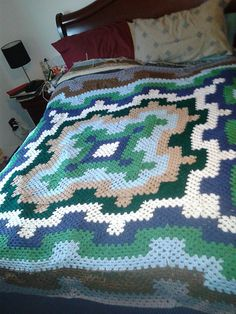http://www.ravelry.com/projects/graceness/fireworks-blanket