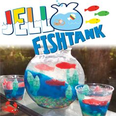Nothing better than an edible craft like our Jello Fishtank! Makes for a great birthday party activity too! http://www.lazoo.com/activity/2013/03/28/jello-fishtank/ #birthdays