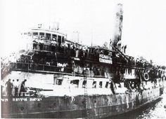 July 11 The SS Exodus heads to Palestine from France. The Exodus was a ship that carried Jewish immigrants from France to British Mandatory Palestine on July Most were Holocaust. Holocaust Memorial, Holocaust Survivors, Palestine, Montpellier, World History, World War Ii, Jewish History, Olay, Homeland