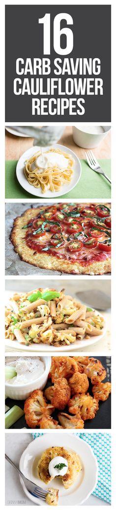 The best low calorie meals using cauliflower.