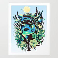 Hathor (Cool) Art Print by Jorge Garza -