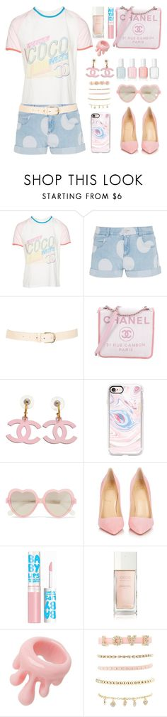 """Heart Shaped Glasses"" by pink-quartz ❤ liked on Polyvore featuring Chanel, STELLA McCARTNEY, Maison Boinet, Casetify, Cutler and Gross, Essie, Christian Louboutin, Maybelline, Q-Pot and Charlotte Russe"