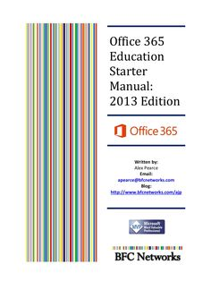 Office365 Education Starter Manual 2013 Edition