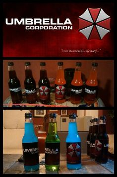 Resident Evil Pop/Soda. Create your own T-virus and Anti-virus. Yummy biohazard to complete any party or gathering.