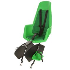 Bobike Maxi Classic bicycle safety seat in All Green. Suitable for children upto 6 years of age or 22kg. Bobike. Simply Safe. www.bobike.com