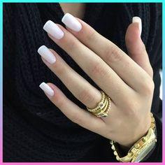 New Shellac Nails French Color Ideas Shellac Nails French, Matte Pink Nails, Glitter Nails, Cute Nails, Pretty Nails, My Nails, Hair And Nails, Basic Nails, Simple Nails