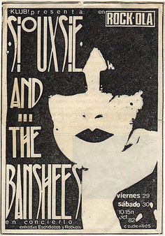 Siouxsie and the Banshees Spanish concert ad. 1982.