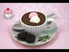 Make Hot Chocolate Teacup Cupcakes! A Cupcake Addiction How To Tutorial, Learn how to make these delicious treats, and heaps more at Mycupcakeaddiction!