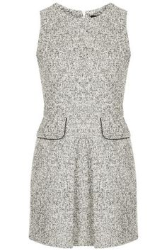 '60s Boucle Shift Dress - worn with a black turtleneck perfect for work