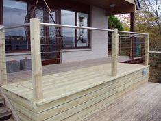To complement our Pro-Railing range of products, we offer a wire rope system as a choice of infill. The stainless steel 3mm strand wire rope system is a simple and cost effective alternative to our cross bar system. It can be fixed to most surfaces including wood, metal and brick and gives an industrial feel to your balustrade, making it ideal for external applications in residential and commercial environments. Wire Balustrade, Garden Ideas, Brick, Alternative, Commercial, Industrial, Stainless Steel, Range, Bar