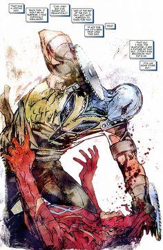 Daredevil Vs Gladiator by Bill Sienkiewicz