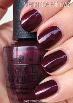 Sleigh Ride for Two is a deep burgundy shimmer. Mariah Carey Christmas Collection 2013.