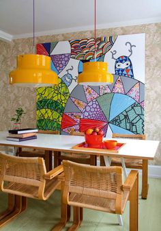 15 Vibrant + Bright Dining Rooms for Serious Color Inspo via Brit + Co.