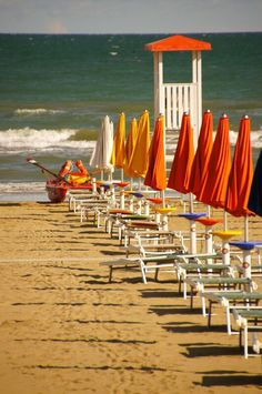 Beach and umbrellas - Lignano, Italy