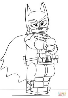 Lego Batgirl Coloring Page From The LEGO Batman Movie Category Select 29179 Printable Crafts
