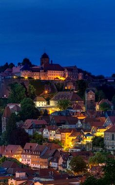 Rosenberg fortress and old town of Kronach, Upper Franconia, Bavaria, Germany | by Harald Nachtmann http://www.harald-nachtmann.de
