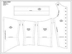 Sweet T Corset Pattern - Why not make it backwards and wear it like a vest? Costume Patterns, Doll Clothes Patterns, Clothing Patterns, Sewing Patterns, Diy Corset, Corset Sewing Pattern, Cosplay Tutorial, Vest Pattern, Bra Pattern