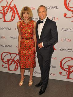 Editor-in-chief of American Vogue, Anna Wintour and designer Tommy Hilfiger attends the 2012 CFDA Fashion Awards at Alice Tully Hall on June 4, 2012 in New York City.  Sip With Socialites  http://sipwithsocialites.com/